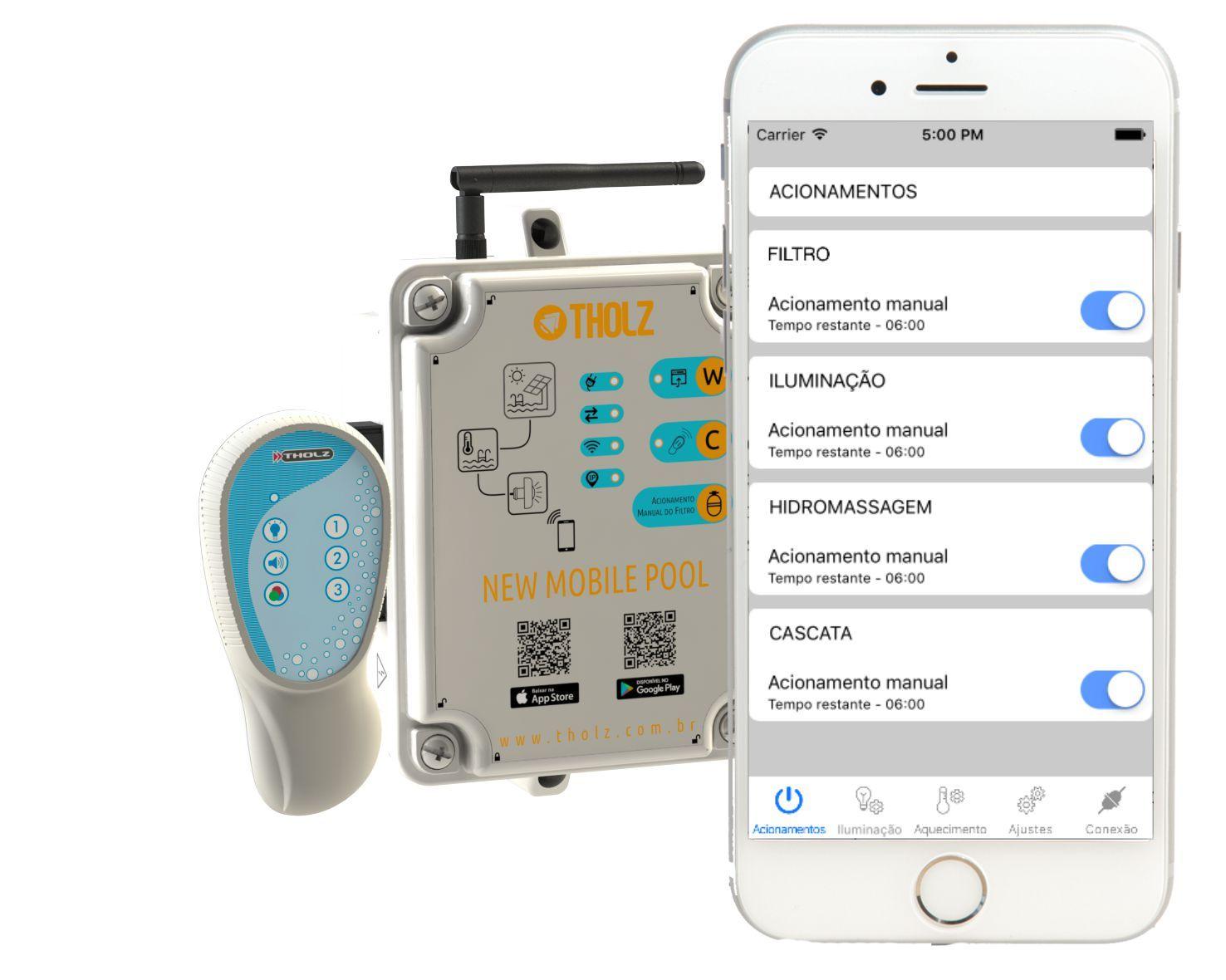 New Mobile Pool - Mcx1169n - Automação Para Piscina Wifi