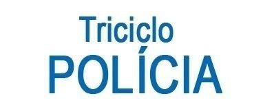 Triciclo Infantil Velotrol Policial c/ Haste Buzina Cotiplás Ref. 1468