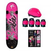 Barbie Skate Glitter com Acessórios de Segurança Fun Divirta-Se