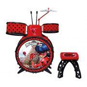 Bateria Infantil Miraculous da Ladybug Com Banquinho 81078 Fun