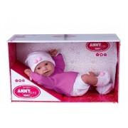 Boneca Anny Doll Baby Menina Reborn Shorts e Blusa 2443 Cotiplás