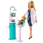 Boneca e Playset Barbie Profissões Barbie Dentista DHB63 Mattel