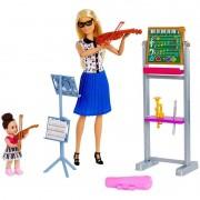 Boneca e Playset Barbie Profissões Barbie Professora de Música DHB63 Mattel