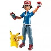 Boneco de Ação Pokémon 12 Cm Ash e Pikachu 1960 Sunny