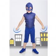 Fantasia Pj Masks Menino Gato Azul Infantil Curta Connor M6058
