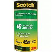Fita Transparente de Empacotamento 45x45 Caixa c/ 200 Rolos 3M