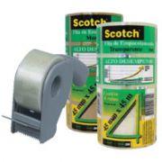 Fita Transparente de Empacotamento 45x45 (Caixa c/ 48 Rolos) + Aplicador de fitas 3M Scotch