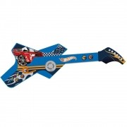Guitarra Infantil Radical Touch Hot Wheels Azul 80073 Fun