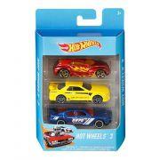 Hot Wheels Pacote Presente com 3 Carros K5904 Mattel