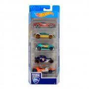 Hot Wheels Pacote Presente com 5 Carros 1806 Mattel
