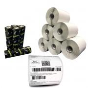 Kit 10 Rolos Etiqueta Adesiva 10x15 Cm com Serrilha + 5 Ribbons Cera
