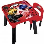 Mesa e Cadeira Miraculous Lady Bug Fun 81086