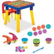 Mesa Infantil com Cadeira Playdoh com Massinha e Acessórios Monte Líbano
