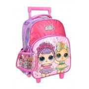 Mochila Carrinho Escolar LOL IC34612LO Pink Luxcel