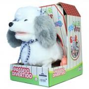 Pelúcia Interativa Playfull Pets Cachorrinho Branco e Cinza 37212 Toyng