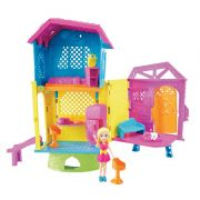 Playset e Mini Boneca Polly Pocket Club House da Polly DHW41 Mattel