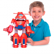 Super Wings Boneco Transformador Jett Super Robô 83416 Fun Divirta-se