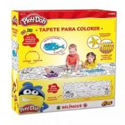 Tapete Bilíngue com Apagador para Colorir Play-Doh Fun 80058