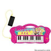 Teclado Infantil Fabuloso Barbie Função MP3 80071 - Fun