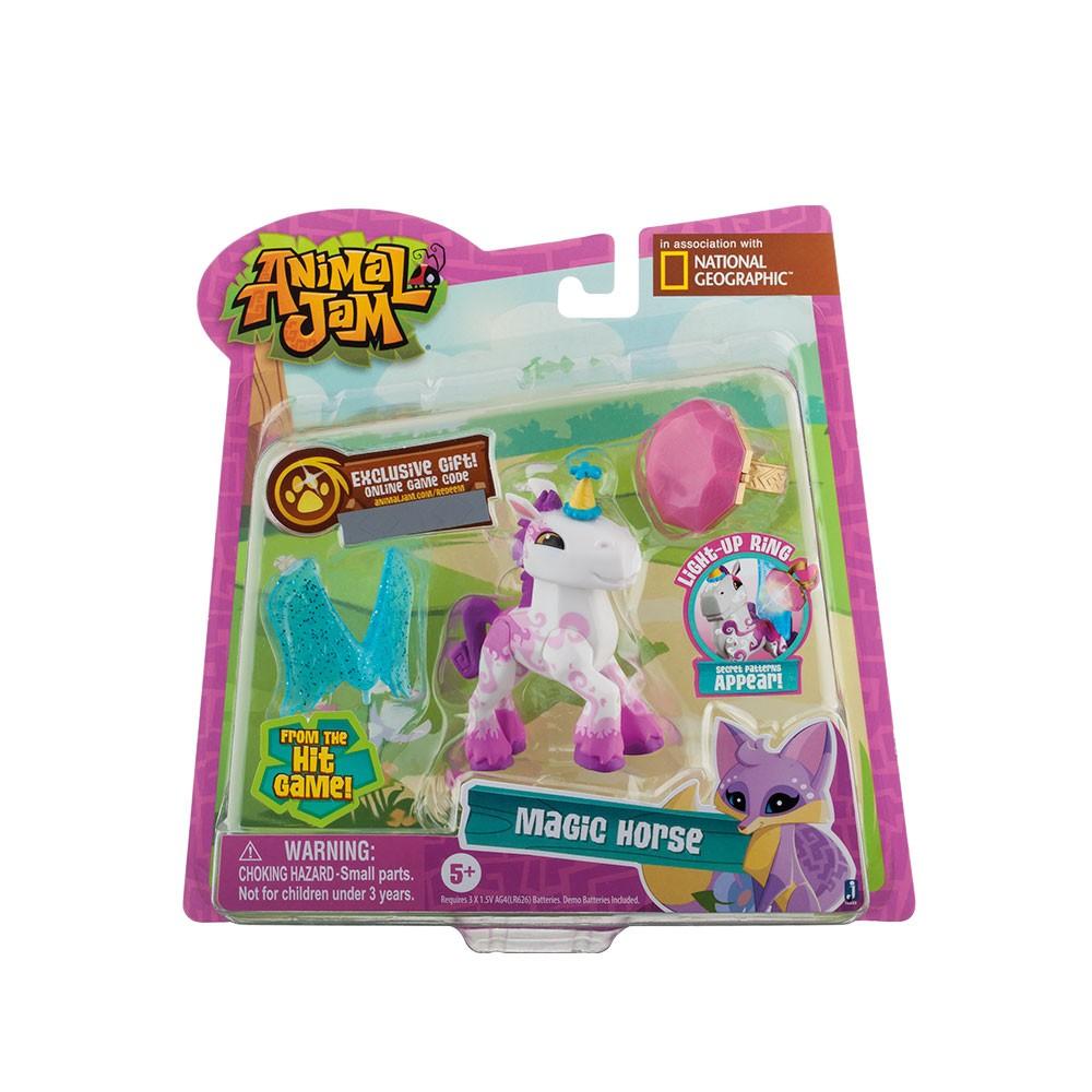 Animal Jam Amigos Iluminados com Anel Cavalo Mágico 80134 Fun