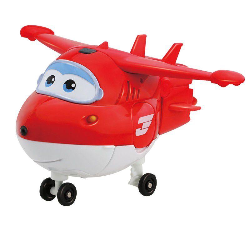 Avião Super Wings Jett Change em Up 80064 Intek