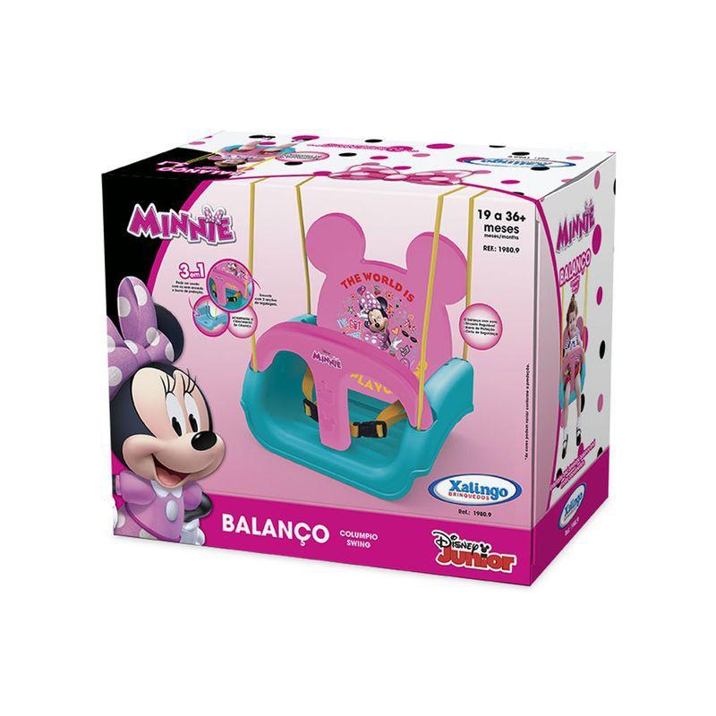 Balanço Infantil com Encosto Regulável Minnie Rosa 19809 Xalingo