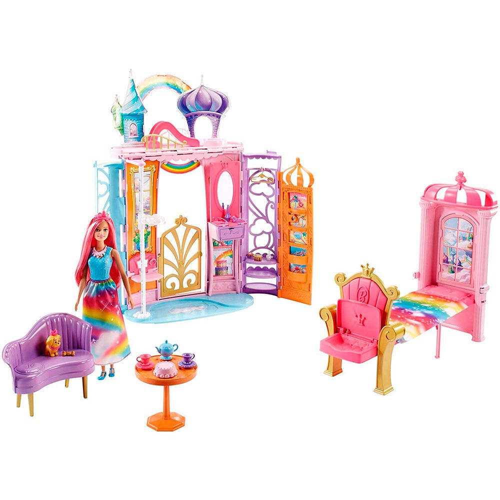 Barbie Castelo de Arco Íris FRB15 Mattel