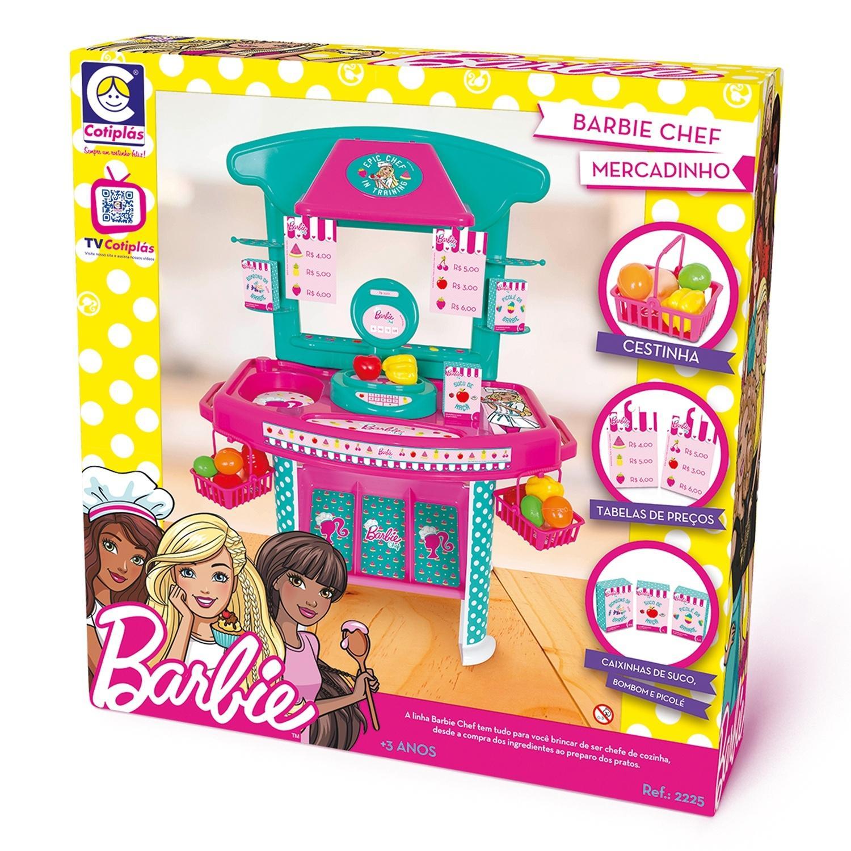 Barbie Chef Mercadinho Com Acessórios 2225 Cotiplás