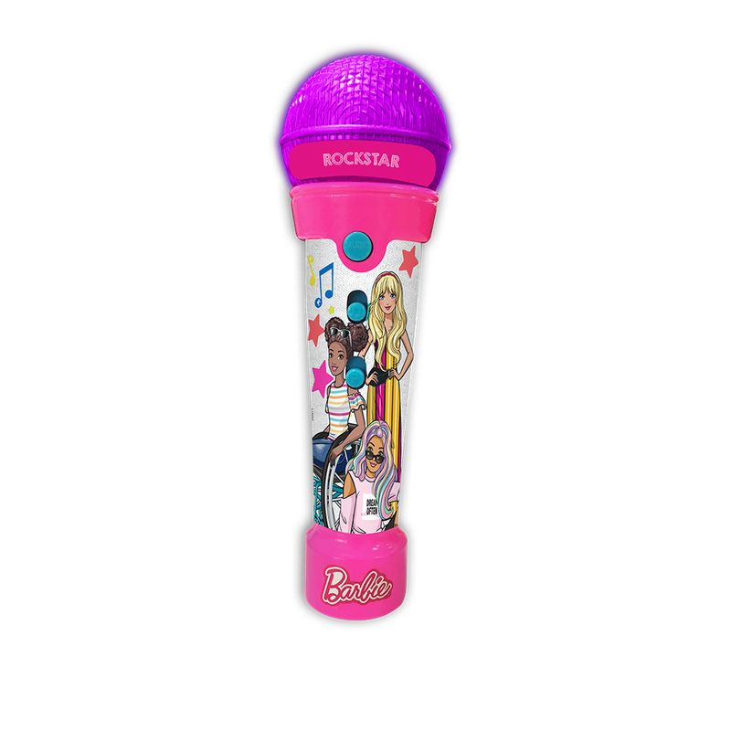 Barbie Microfone Rockstar C Funcao Mp3 Player F00200 Fun Divirta-se