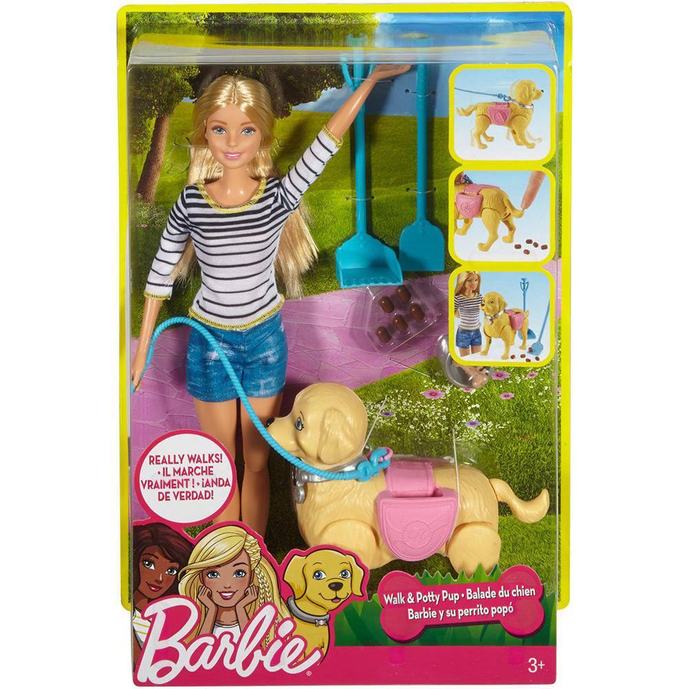 Barbie Passeio com Cachorrinho DWJ68 Mattel