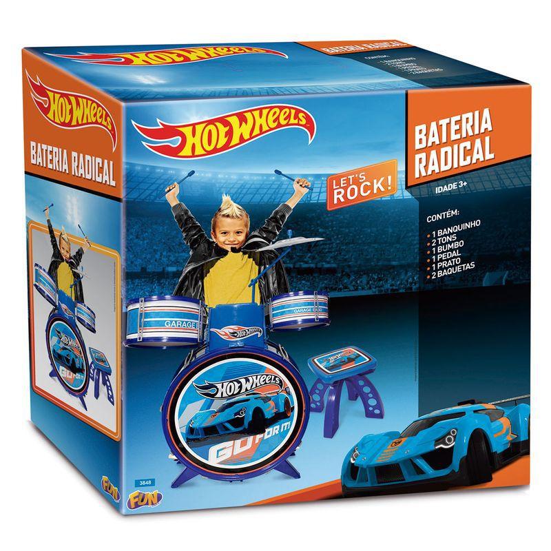 Bateria Radical Infantil Hot Wheels 72734 Fun