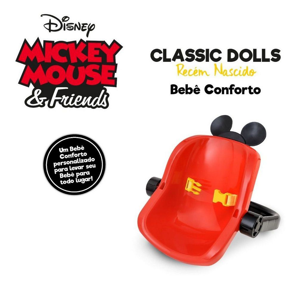 Bebê Conforto Classic Dolls Mickey Mouse 5169 Roma
