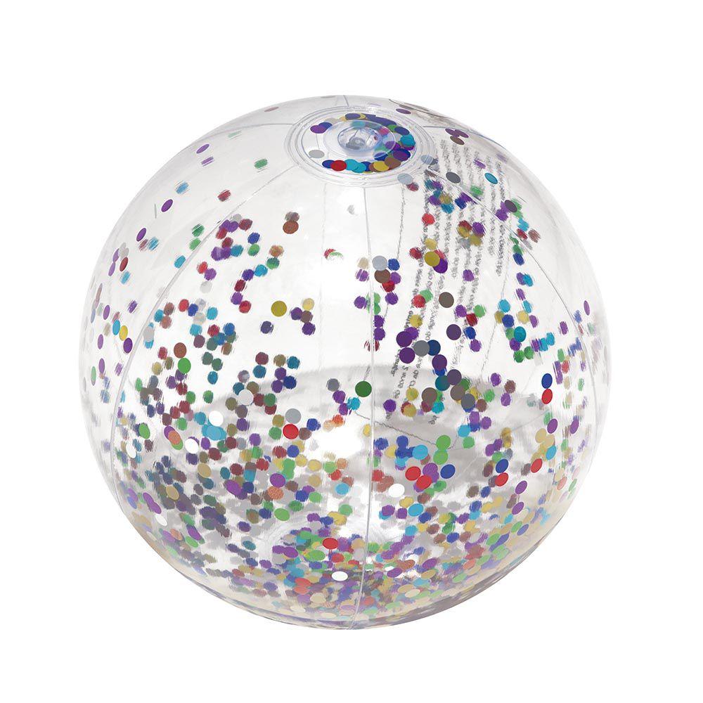 Bola Inflável com Glitter Sortida 1955 Mor