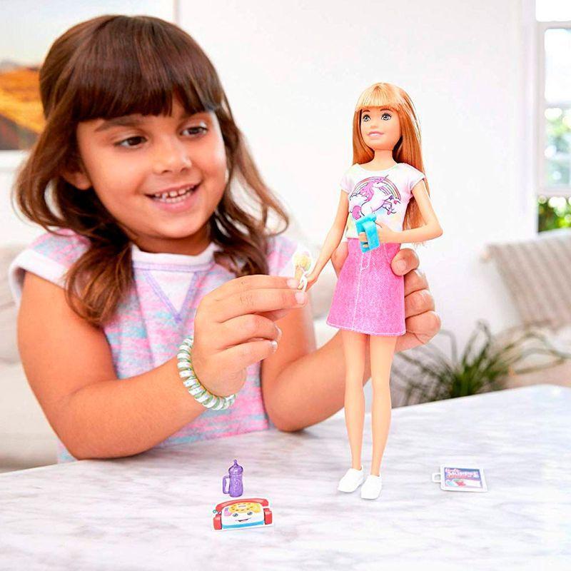Boneca Barbie Babysitter Blusa de Unicórnio FHY89 Mattel