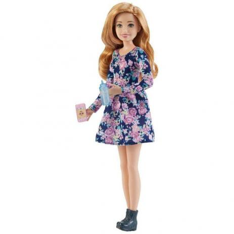 Boneca Barbie Babysitter Vestido Florido FHY89 Mattel
