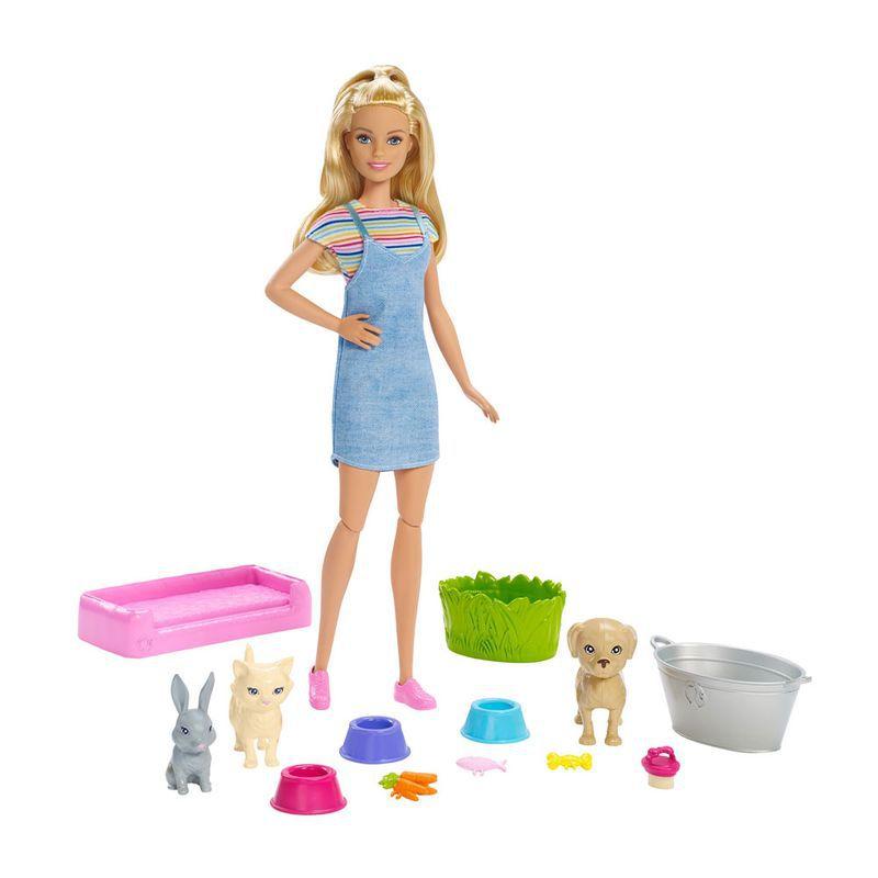 Boneca Barbie Banho dos Cachorrinhos FXH11 Mattel
