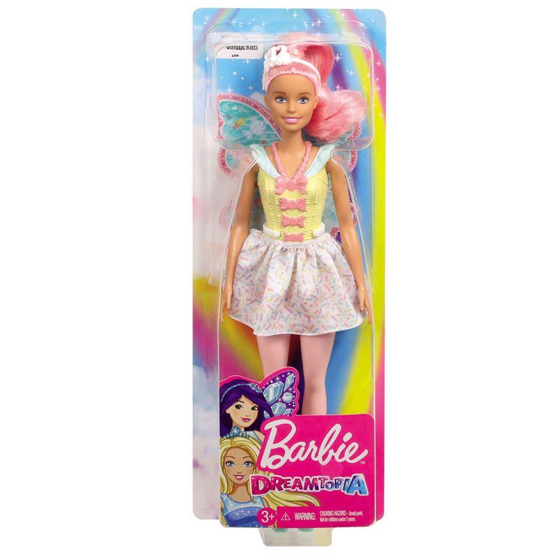 Boneca Barbie Dreamtopia Fada Cabelo Rosa GJJ98 Mattel