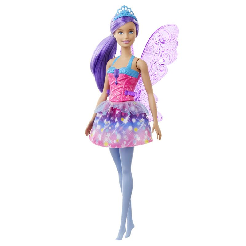 Boneca Barbie Dreamtopia Fada Cabelo Roxo GJJ98 Mattel