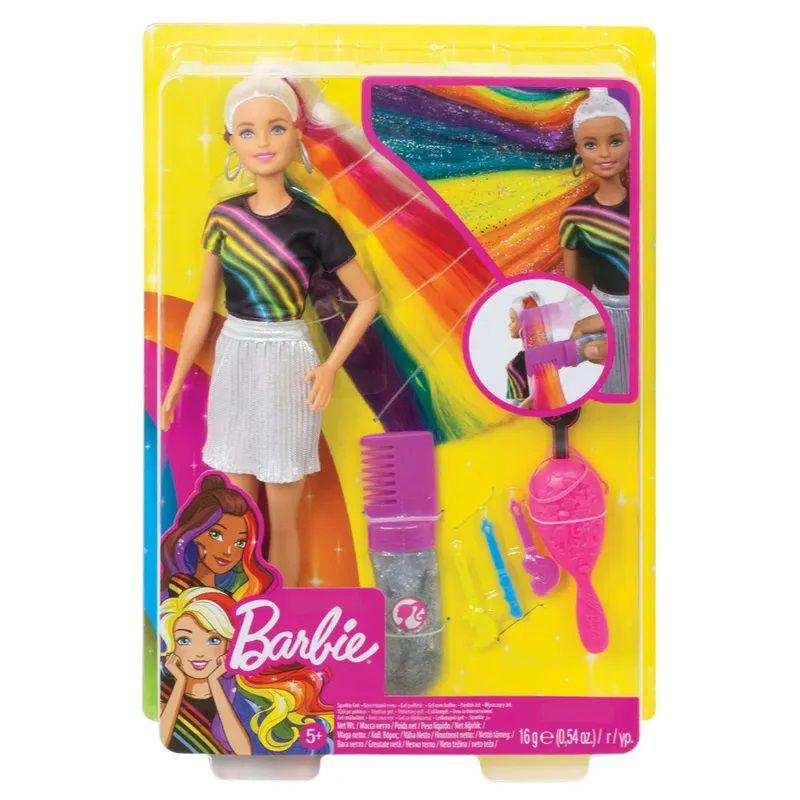 Boneca Barbie Lindos Penteados Cabelo Arco-íris FXN96 Mattel