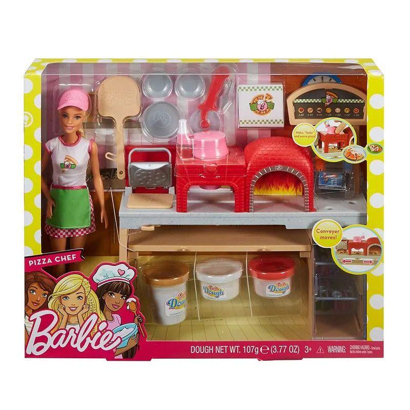 Boneca Barbie Pizzaiola FHR09 Mattel