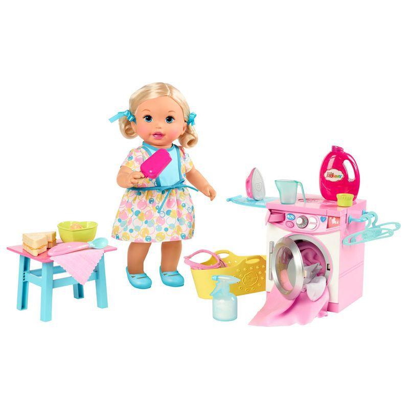 Boneca Bebê Little Mommy Hora de Comer e Lavar FLC04 Mattel