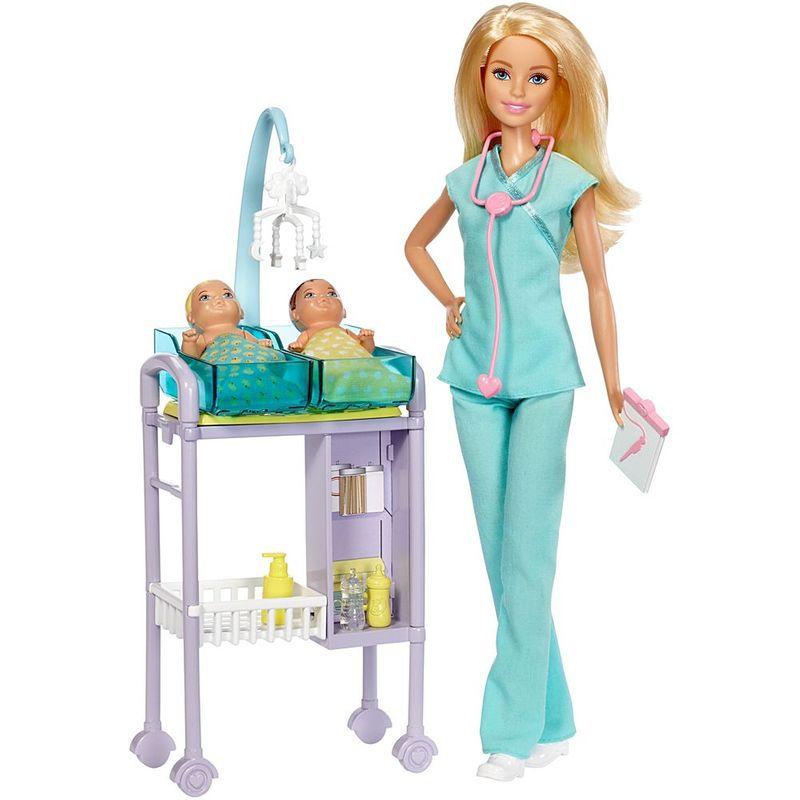 Boneca e Playset Barbie Profissões Barbie Maternidade DHB63 Mattel