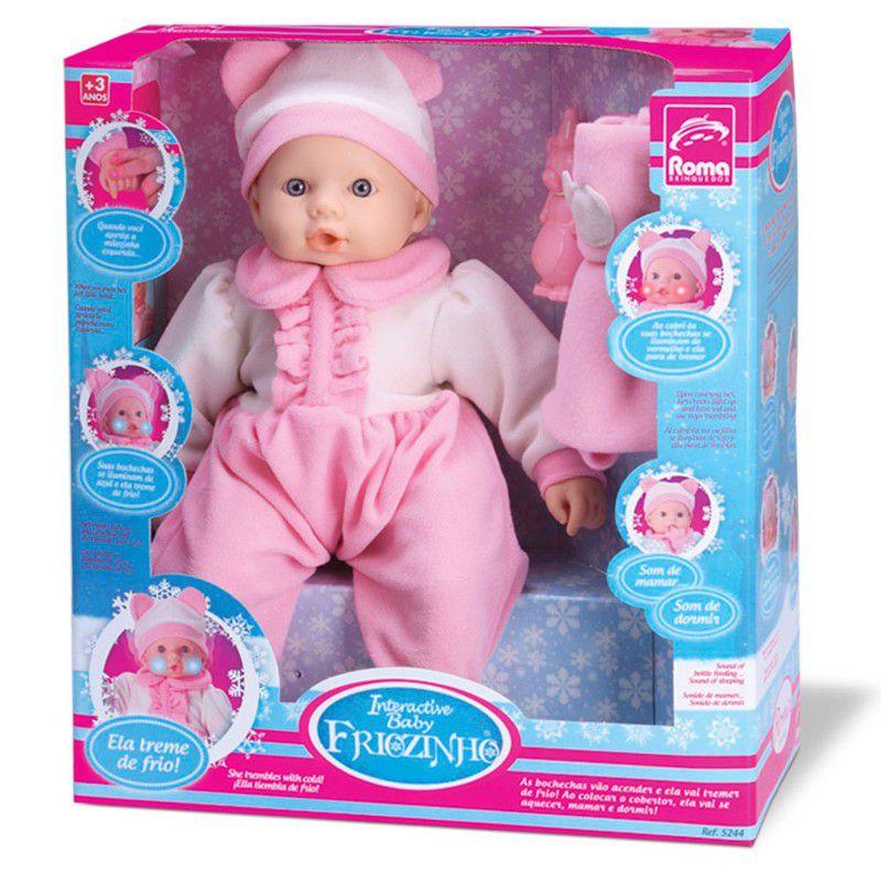 Boneca Interactive Baby Friozinho Roma Jensen Ref. 5244