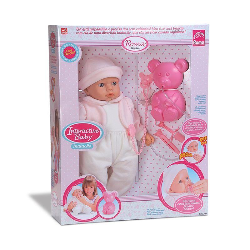 Boneca Interactive Baby Inalação Roma