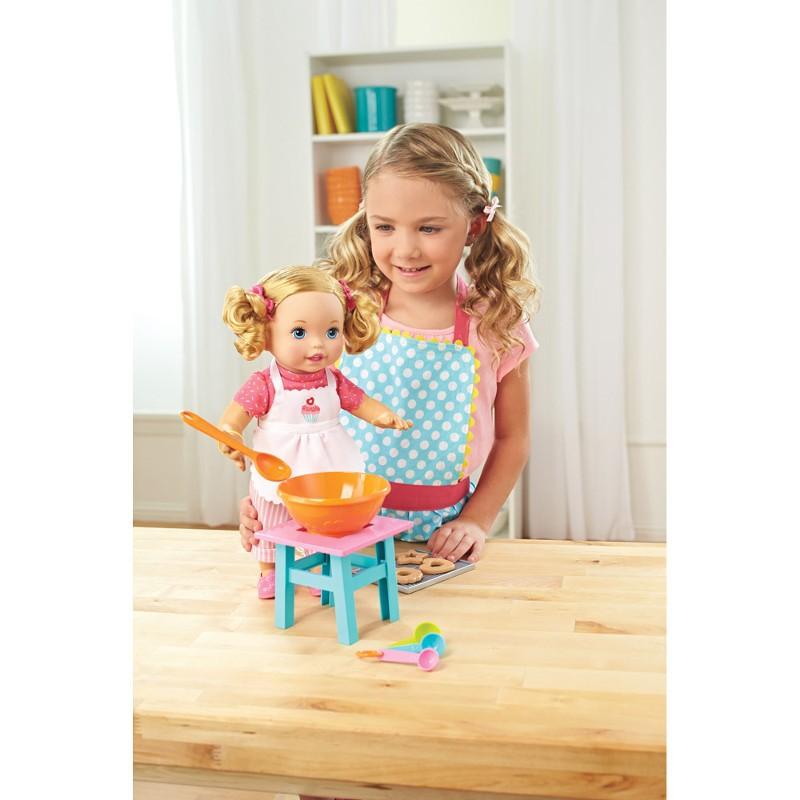 Boneca Little Mommy Pequena Chef Mexe os Bracinhos DLB57 Mattel