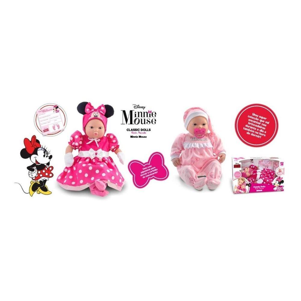 Boneca Minnie Classic Dolls Recém Nascido 5162 Roma