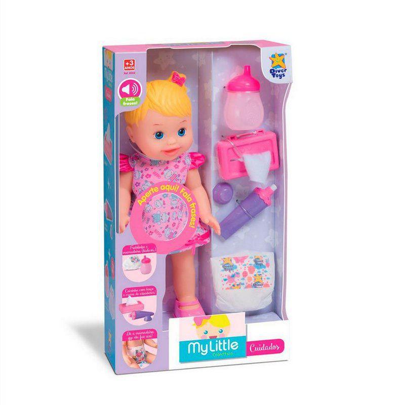 Boneca My Little Collection Falante Cuidados Ref. 8032 Diver Toys