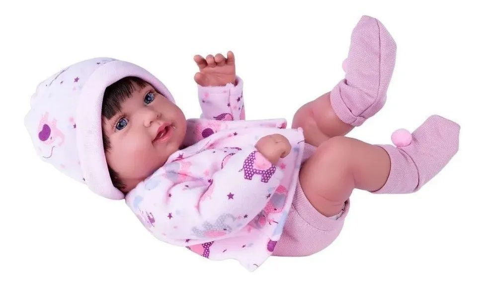 Boneca Reborn Menina Fralda Anny Doll Baby Cotiplás 2441
