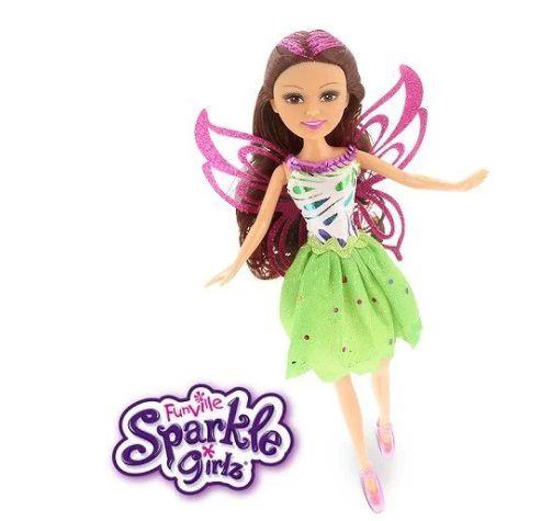Boneca Sparkle GIRLZ Fada no Cone Cabelo Castanho DTC 4209