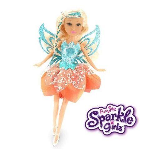 Boneca Sparkle GIRLZ Fada no Cone Cabelo Loiro DTC 4209